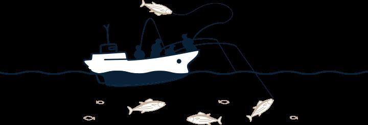 一本釣りの操業図