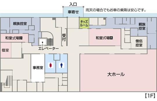 館内見取り図 1階