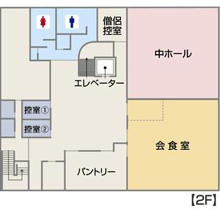 館内見取り図 2階