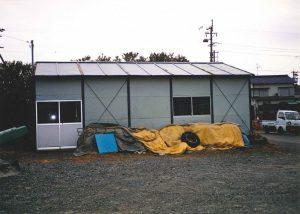 青壮年部のわかめ養殖用の漁具倉庫