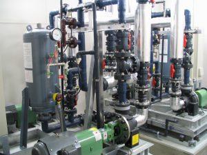 鮮魚解凍売場 海水電解防汚殺菌装置2